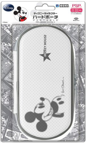 Image 1 for Disney Character Hard Pouch Portable (Mickey White)