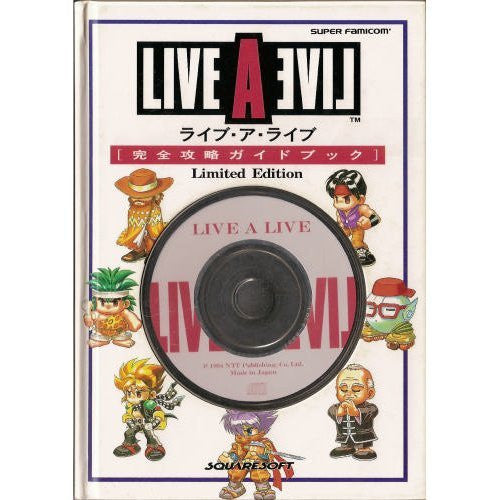 Live A Live Perfect Strategy Guide Book Limited Edition / Snes