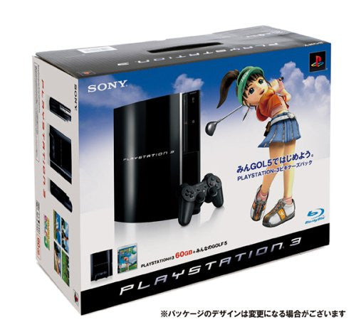 PlayStation3 Console (HDD 60GB Model) w/ Minna no Golf 5 - 110V