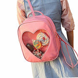 Thumbnail 2 for Ita Bag - Clear Heart Backpack - Akssweet - Pink