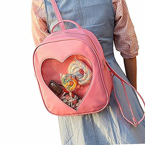 Image for Ita Bag - Clear Heart Backpack - Akssweet - Pink