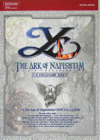 Image for Ys The Ark Of Napishtim Guide (Konami Official Books)