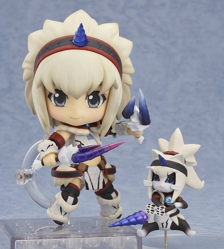 Image 2 for Monster Hunter 4 - Airou - Hunter - Nendoroid #377 - Kirin Armor ver., Full Action (Good Smile Company)
