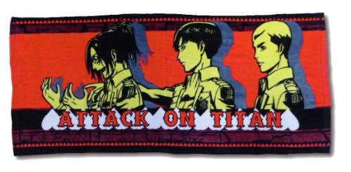 Image 1 for Shingeki no Kyojin - Levi - Erwin Smith - Hange Zoe - Face Towel - Towel (Fragment)