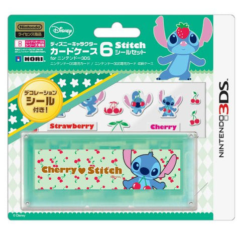 Image for Disney Character Card Case 6 Seal Set for Nintendo 3DS (Stitch)
