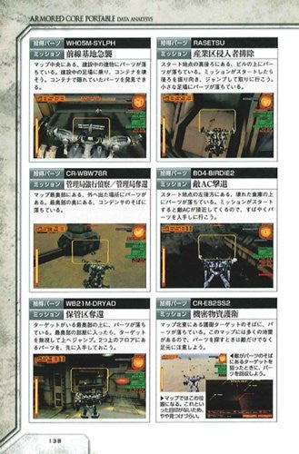 Image 4 for Armored Core Portable Data Analysis Data Book / Psp