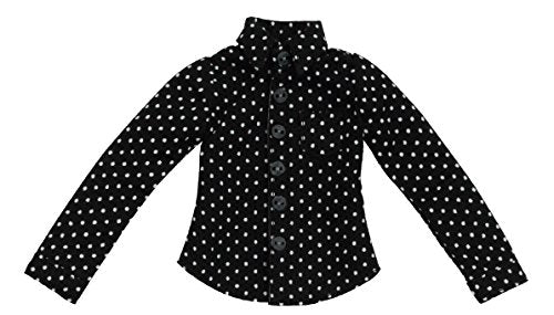 Doll Clothes - Pureneemo Original Costume - PureNeemo XS Size Costume - Dot Pattern Shirt - 1/6 - Black (Azone)