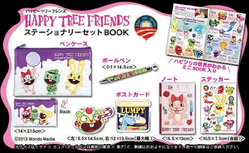 Image 2 for Happy Tree Friends Stationery Set Book W/Pen Case/Ballpoint/Post Card/Etc