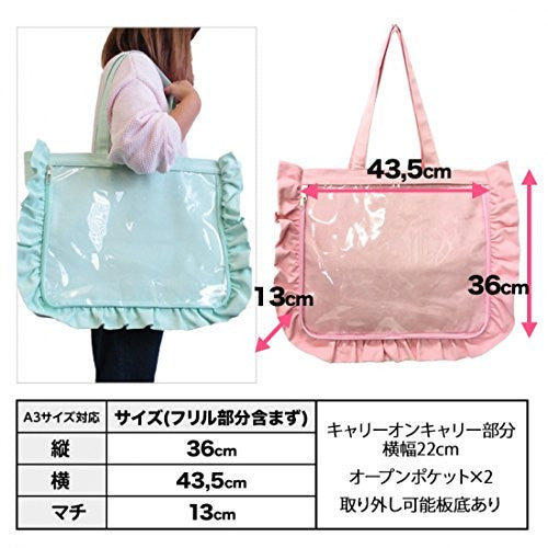 Image 3 for Ita Bag - Clear Tote Bag - Frills - White