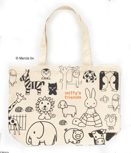 Image 2 for Miffy's Friends Book W/Miffy & Animal Design Tote Bag