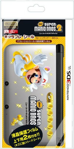 Chara Pure Seal New Mario 2 for 3DS LL (Type W)