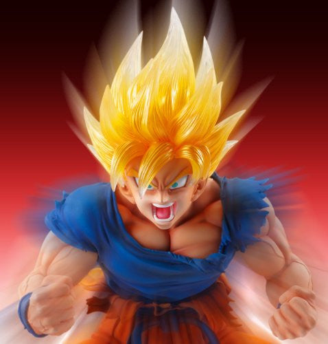 Image 6 for Dragon Ball Kai - Son Goku SSJ - Super Figure Art Collection - 1/8 - Ver. 2 Clear Hair Ver. (Medicos Entertainment)