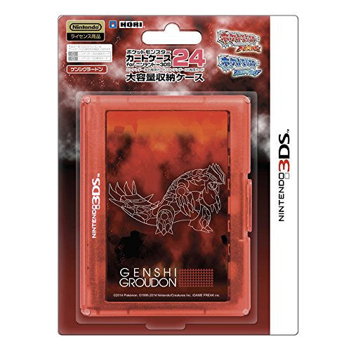 Image 1 for Pokemon Card Case 24 for 3DS (Genshi Groudon)