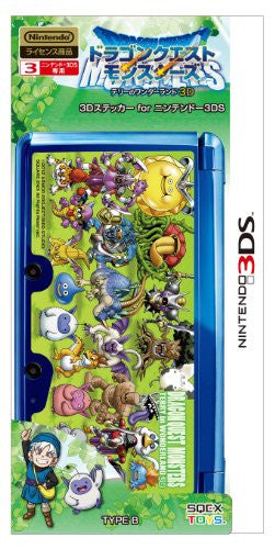 Image 2 for Dragon Quest Monsters Terry no Wonderland 3D Sticker for Nintendo 3DS [Type B]