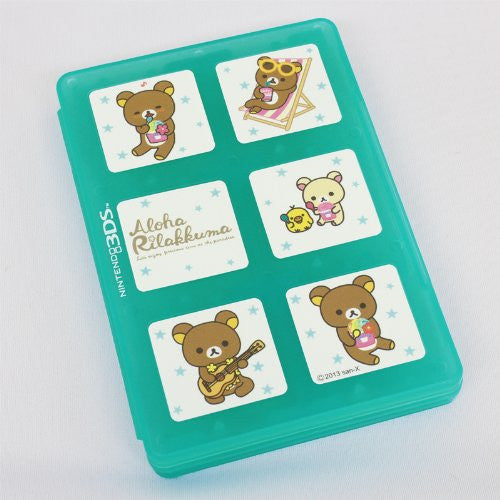 Image 3 for Character Card Case 12 for 3DS Rilakkuma Aloha (Blue)