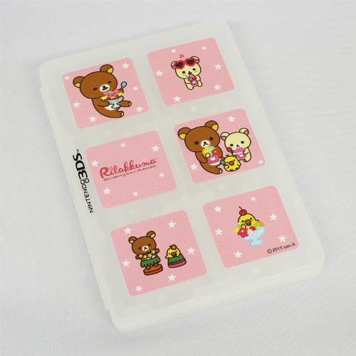 Image 3 for Character Card Case 12 for 3DS Rilakkuma Aloha (White)