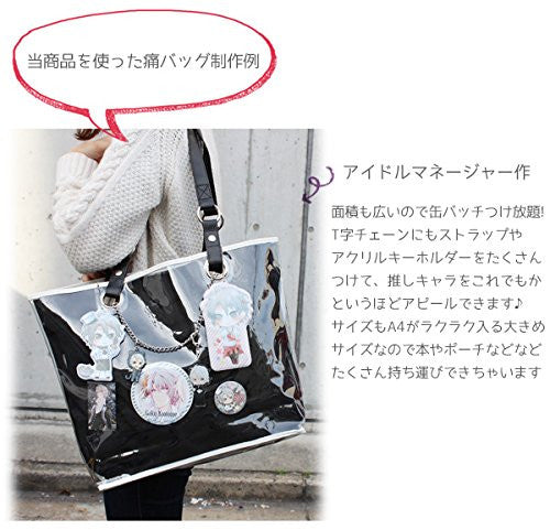 Image 3 for Ita Bag - Clear Tote Bag - Black with Chain