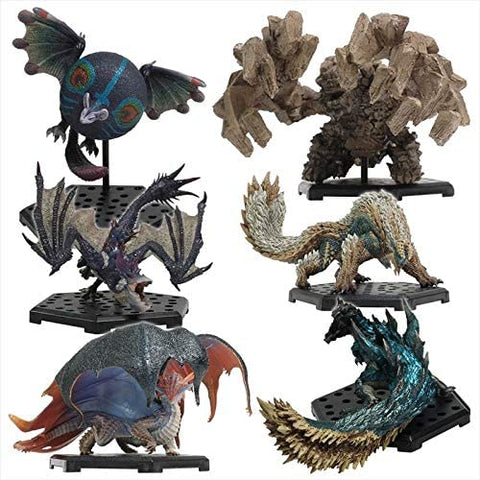 Monster Hunter World - Paolumu - Dinovaldo - An Ishvalda - Yian Garuga - Jinouga - Neromielle - Capcom Figure Builder - Monster Hunter Standard Model Plus Vol.17 - Subspecies - Full Set (Capcom)