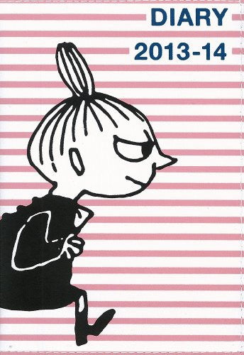 Image 1 for Moomin Diary 2013 14 Cover Design By Nimes Pink Border X Little My Diary Book