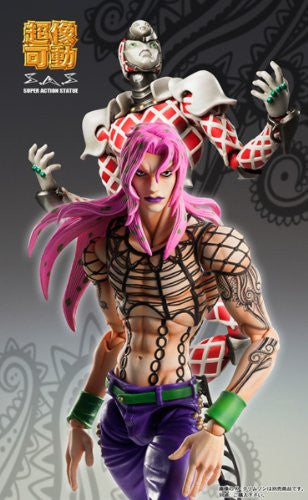 Image 3 for Jojo no Kimyou na Bouken - Ougon no Kaze - Diavolo - Super Action Statue (Medicos Entertainment)