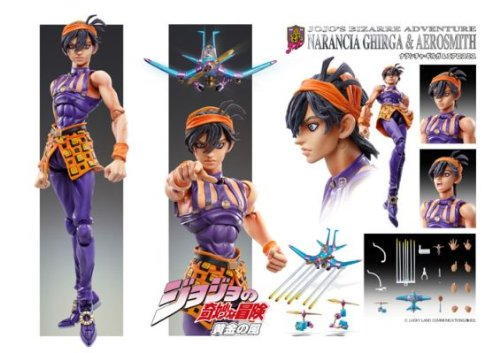 Image 5 for Jojo no Kimyou na Bouken - Vento Aureo - Aerosmith - Clash - Formaggio - Narancia Ghirga - Super Action Statue #44 (Medicos Entertainment)