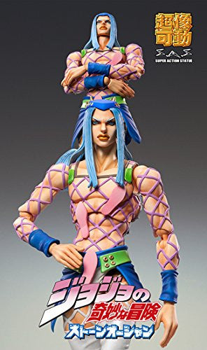 Image 3 for Jojo no Kimyou na Bouken - Stone Ocean - Narciso Anasui - Super Action Statue #69 (Medicos Entertainment)