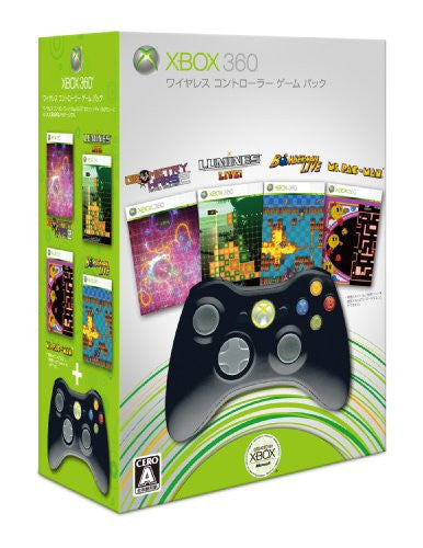 Image 1 for Xbox 360 Wireless Controller Game Pack (Black)