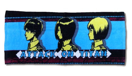 Image 1 for Shingeki no Kyojin - Eren Yeager - Armin Arlert - Mikasa Ackerman - Towel - Face Towel (Fragment)