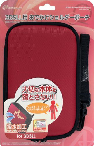 Image 1 for Odekake Shoulder Pouch for 3DS LL (Red)