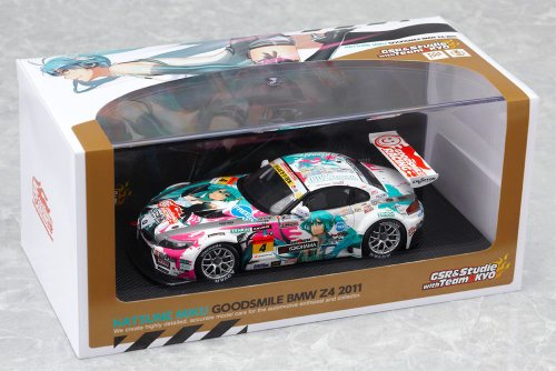 Image 4 for GOOD SMILE Racing - Vocaloid - Hatsune Miku - Itasha - BMW Z4 2011 - 1/43 - Racing 2011 FUJI Champion Ver. (Good Smile Company)