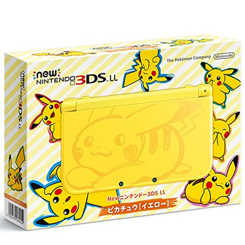 New Nintendo 3DS LL Pikachu Yellow - Pokemon Moon Set (incl. Pouch)