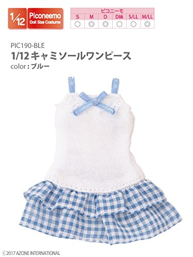 Doll Clothes - Picconeemo Costume - Camisole Dress - 1/12 - Blue (Azone)