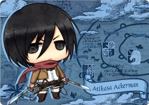 Image 1 for Shingeki no Kyojin - Mikasa Ackerman - Mousepad - Chimi (Gift)