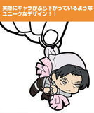 Thumbnail 2 for Shingeki no Kyojin - Levi - Keyholder - Rubber Keychain - Tsumamare - Cleaning ver. (Cospa)