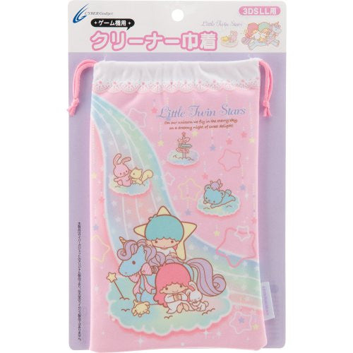 Image 1 for Little Twin Stars Pouch for 3DS LL (Pink)