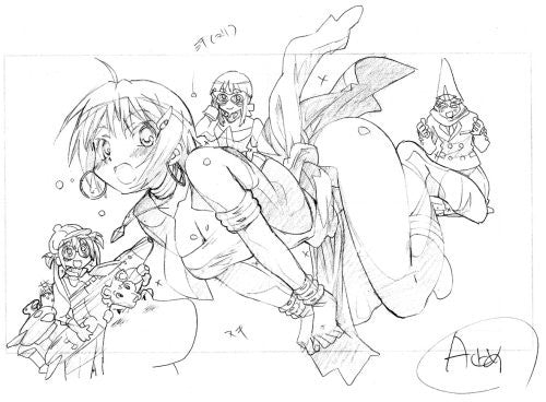 "Image 2 for He Is My Master Animation ""Marumie Maid Works"" Storyboard Art Book"
