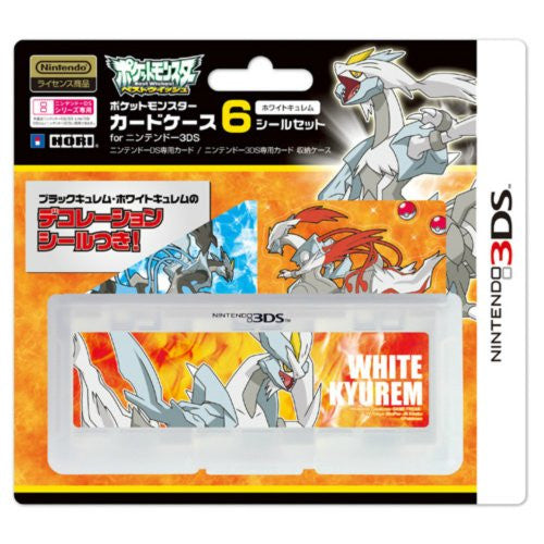 Image 1 for Pocket Monster Card Case 6 Seal Set for Nintendo 3DS (White Kyurem Version)