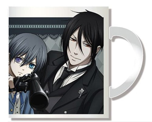 Image 1 for Kuroshitsuji ~Book of Circus~ - Sebastian Michaelis - Ciel Phantomhive - Mug B (Penguin Parade)