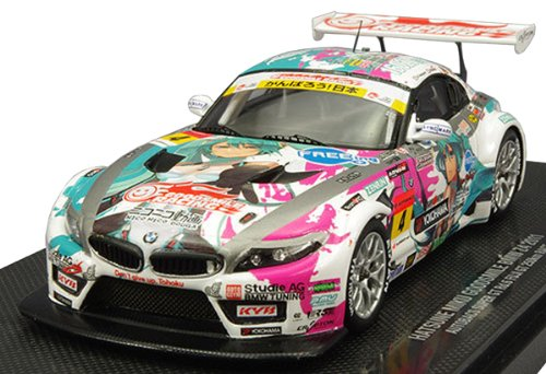 Image 1 for GOOD SMILE Racing - Vocaloid - Hatsune Miku - Itasha - BMW Z4 2011 - 1/43 - Racing 2011 FUJI Champion Ver. (Good Smile Company)