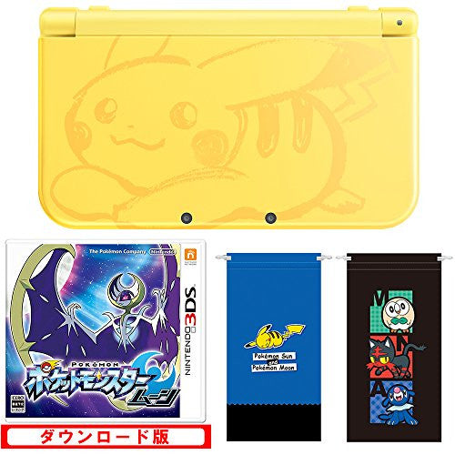 Image 2 for New Nintendo 3DS LL Pikachu Yellow - Pokemon Moon Set (incl. Pouch)