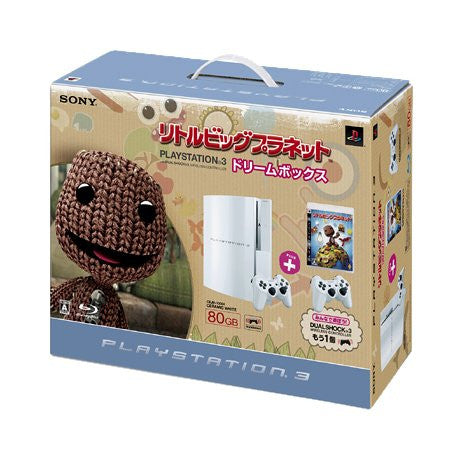 Image 2 for PlayStation3 Console (HDD 80GB LittleBigPlanet Dream Box) - Ceramic White