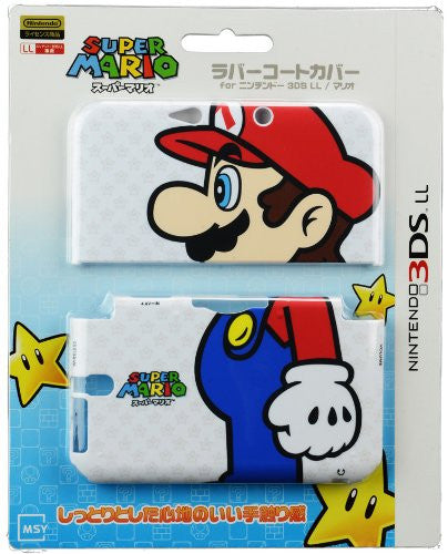 Image 1 for Rubber Coat Cover for 3DS LL (Mario)