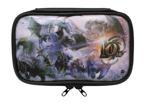 Image 1 for Monster Hunter 10th Anniversary Pouch for 3DS LL (Full color)
