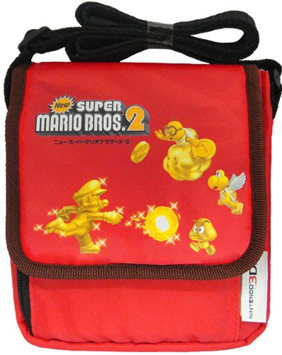 Image 1 for New Super Mario Bros. 2 Bag for 3DS (Red) [Gold Mario Version]