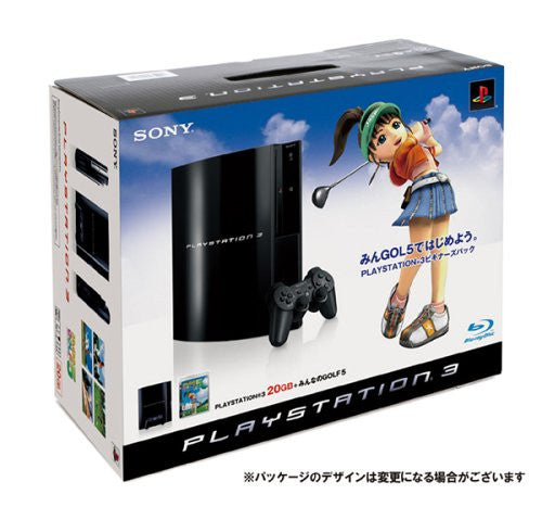 PlayStation3 Console (HDD 20GB Model) w/ Minna no Golf 5 - 110V