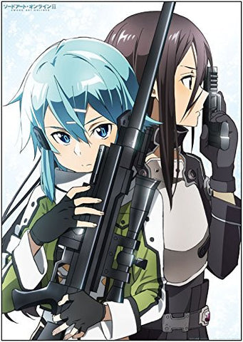 Image for Sword Art Online II - Kirito - Sinon - Bath Poster - Poster (Penguin Parade)