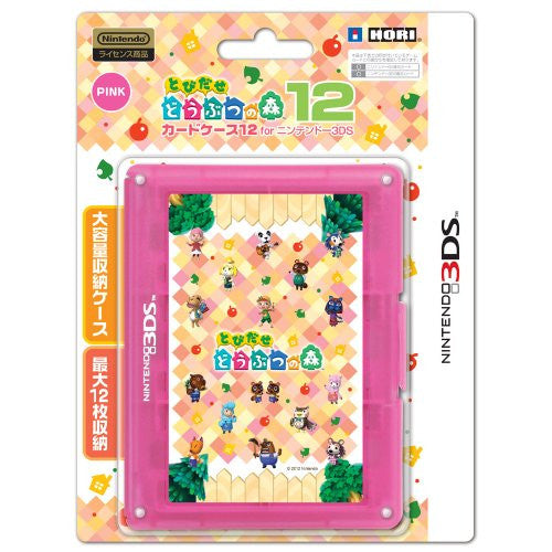 Image 1 for Tobidase Doubutsu no Mori Card Case 12 for 3DS (Pink)