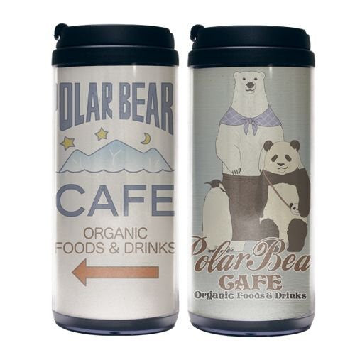 Image 2 for Shirokuma Cafe - Panda - Penguin - Shirokuma - Tumbler (Cospa)