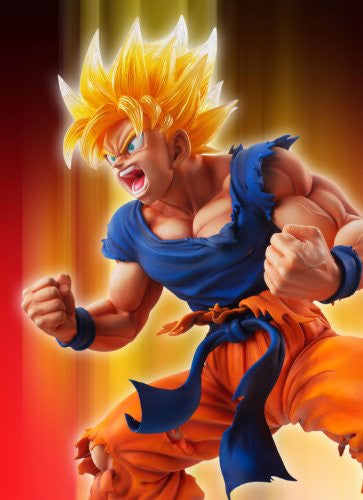Image 4 for Dragon Ball Kai - Son Goku SSJ - Super Figure Art Collection - 1/8 - Ver. 2 Clear Hair Ver. (Medicos Entertainment)
