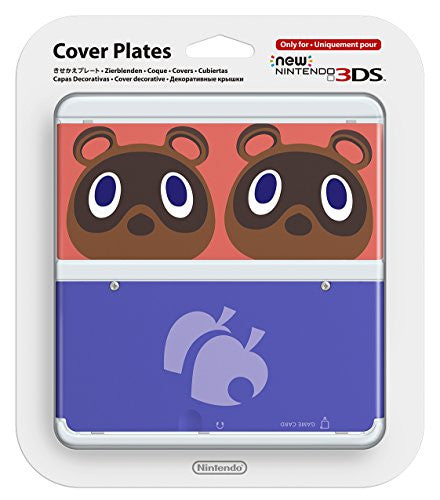 Image 1 for New Nintendo 3DS Cover Plates No.014 (Animal Crossing Mamekichi and Tsubukichi) Slight damage on package